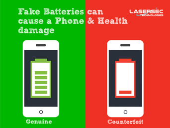 Fake Batteries can cause a Phone & Health damage