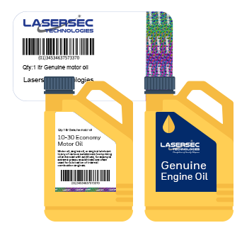 Holographic Barcode Label for Automobile